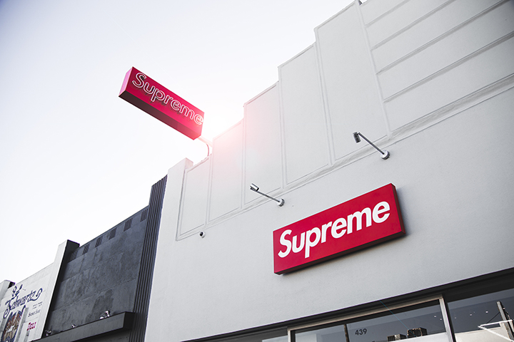 Supreme building signs in Austin, TX