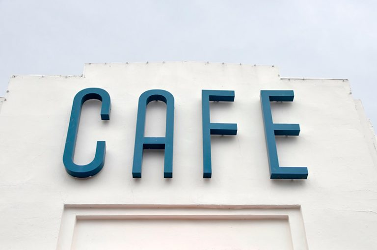 Café channel letter signs in Austin, Texas