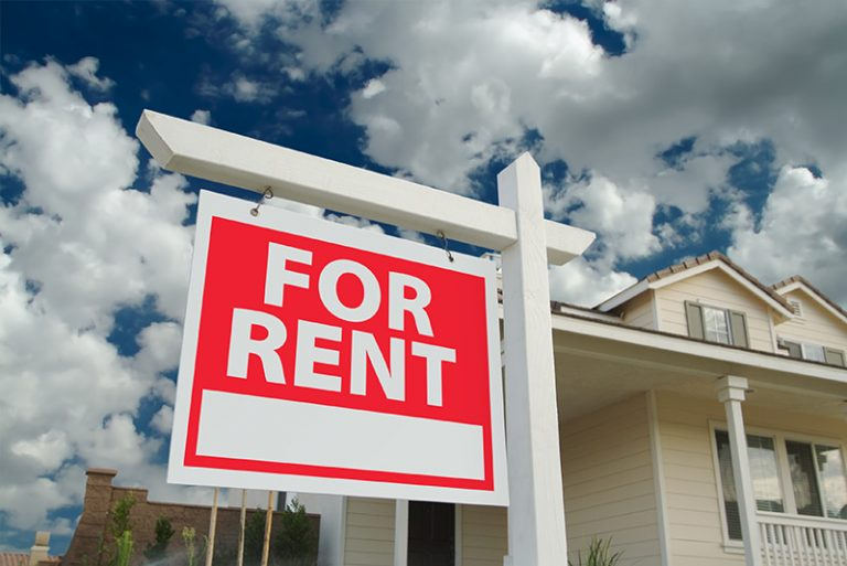 Exterior rent signs in Austin, TX