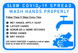 Wash Hands Properly Thumb Signs in Austin, TX - Georgetown Sign Company