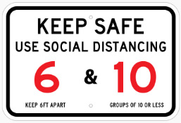 Use Social Distancing Thumb Sign in Austin, TX - Georgetown Sign Company