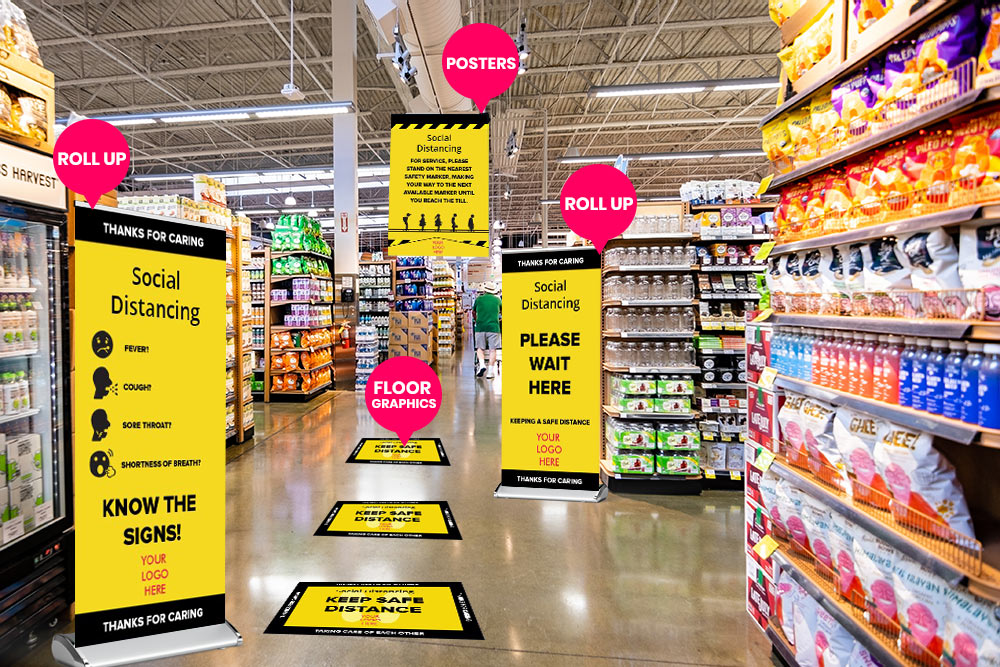 Custom Floor Graphics At Grocery Store in Austin, TX - Georgetown Sign Company