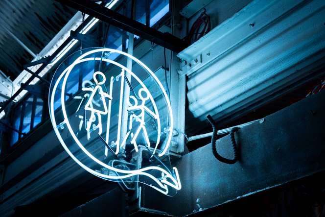 Led Neon Restroom Signage in Austin, TX - Georgetown Sign Company