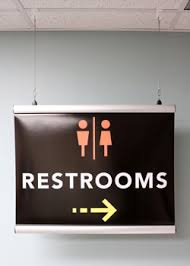 Custom Made Interior Wayfinding Signs For Restrooms in Austin, TX - Georgetown Sign Company